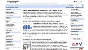 Startseite vom Statistischen Bundesamt