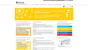 Screenshot der Homepage von eCircle.