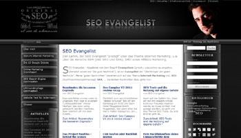 Startseite vom SEO Evangelisten
